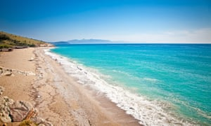 Lukova beach in Albania has 'golden sand, turquoise water and no tourists'.