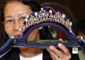 Imelda Marcos's diamond and pearl tiara