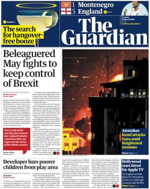 Guardian front page, Tuesday 26 March 2018