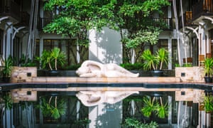 Take the plunge: the swimming pool at the Anantara Angkor hotel in Siem Reap.