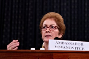 Marie Yovanovitch, former U.S. ambassador to Ukraine, speaks to the House intelligence committee on Friday.