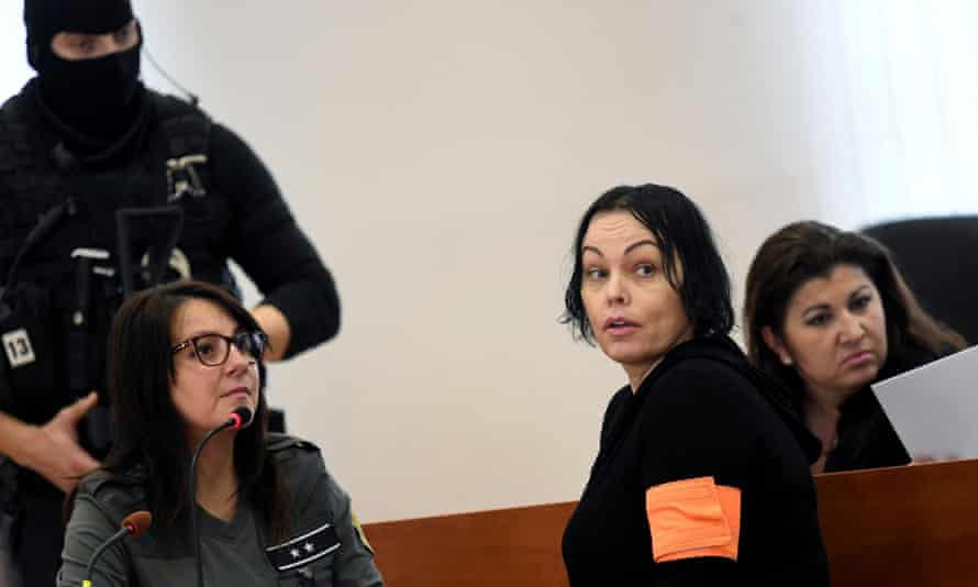 Alena Zsuzsová in the courtroom at a preliminary hearing