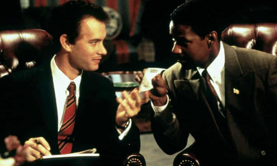 Tom Hanks (left) and Denzel Washington in Philadelphia (1993).