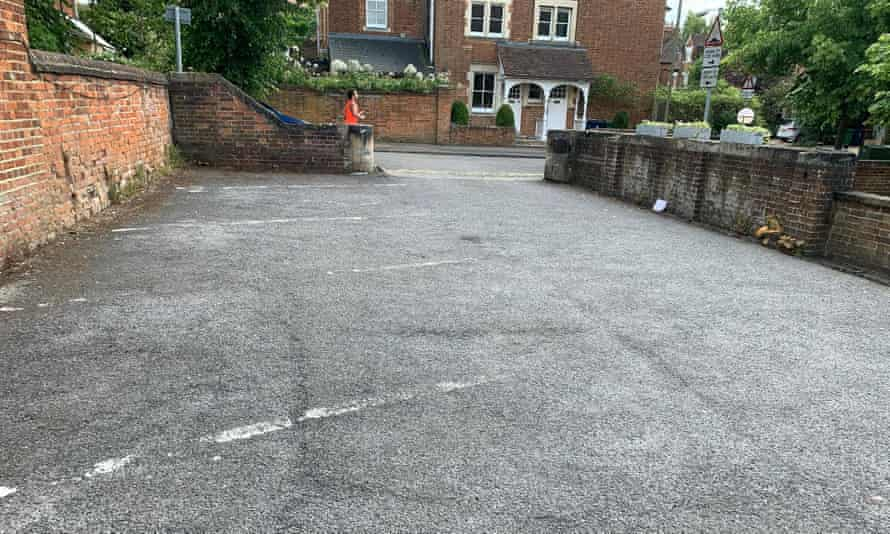 The Anchor pub car park before its transformation for this week's reopening