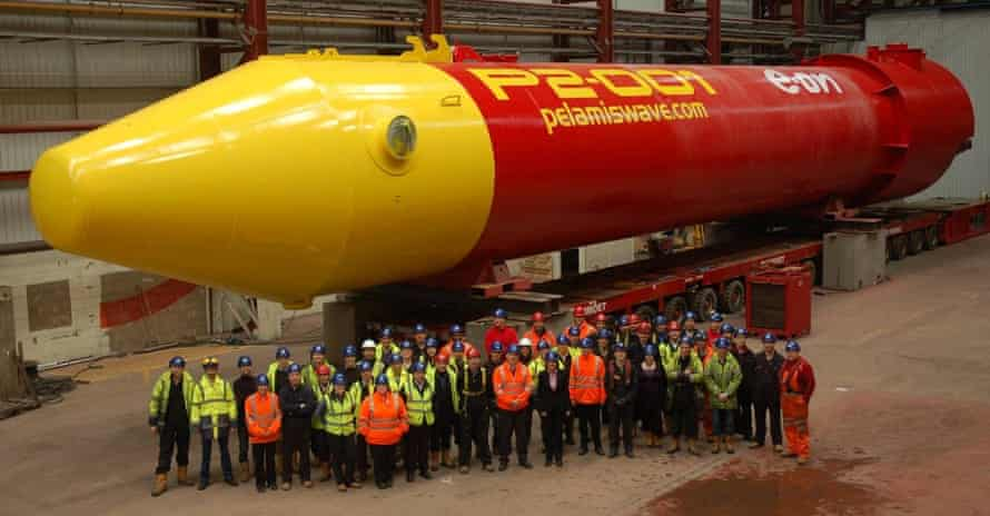 The presentation of the Pelamis wave device in 2011