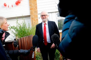 Jeremy Corbyn leaves his home in north London on 13 December 2019