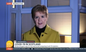 Nicola Sturgeon on ITV's Good Morning Britain this morning.