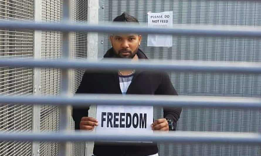 'I should be released': Thanush Selvarasa in his 'cage life' at the Broadmeadows immigration detention centre.