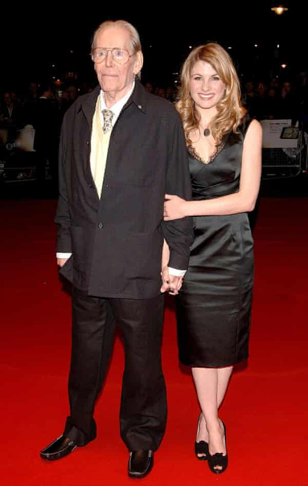 Jodie Whittaker and Peter O'Toole at the London film festival in 2006.