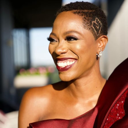 Yvonne Orji had the black power fist shaved into her hair for the Emmys