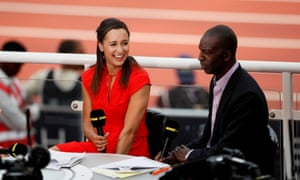 Jessica Ennis-Hill with Michael Johnson