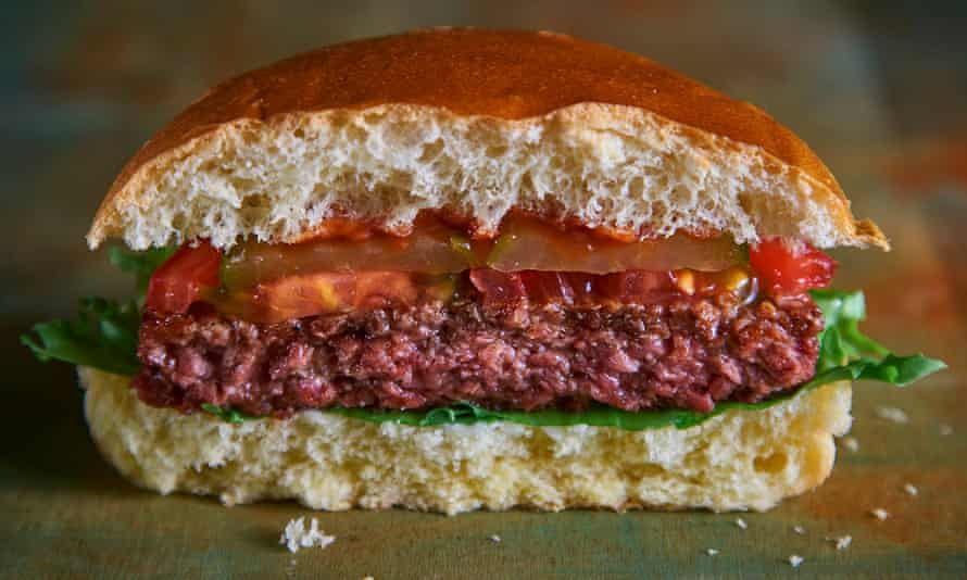 The Moving Mountains B12 Burger, the meatless burger that 'bleeds'.