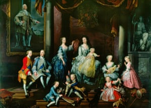 The Family of Frederick, Prince of Wales – a group portrait by George Knapton