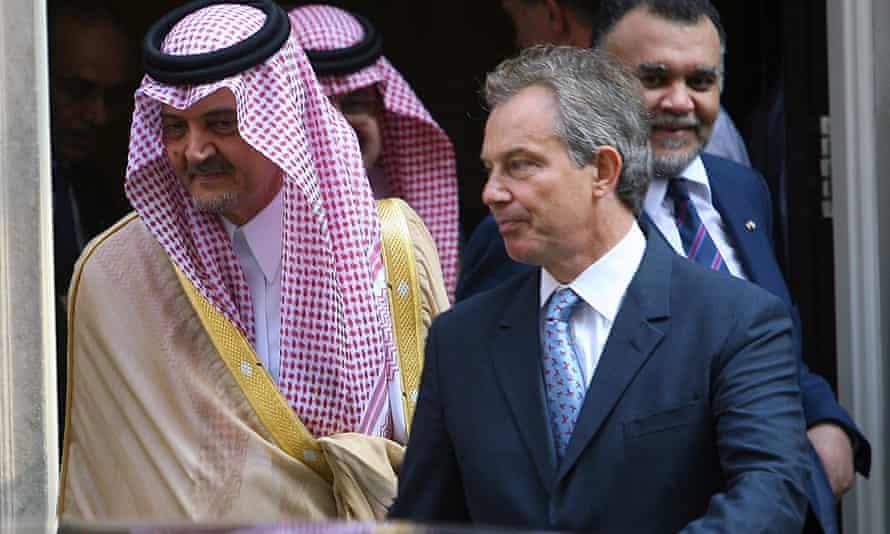 Tony Blair with Prince Saud al-Faisal in July 2005
