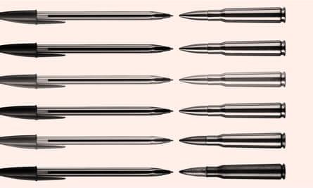 illustration: biros vs bullets