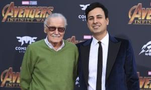 Stan Lee and Keya Morgan pictured in Los Angeles in April 2018.