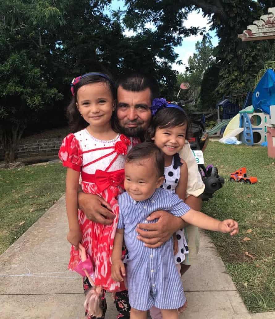 Salahidin Abdulahad with his children.