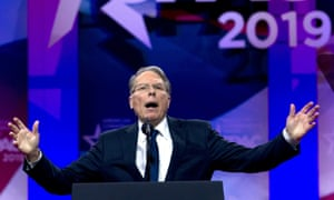 The NRA chief executive, Wayne LaPierre, addressed CPac 2019, in Oxon Hill, Maryland, earlier this year.