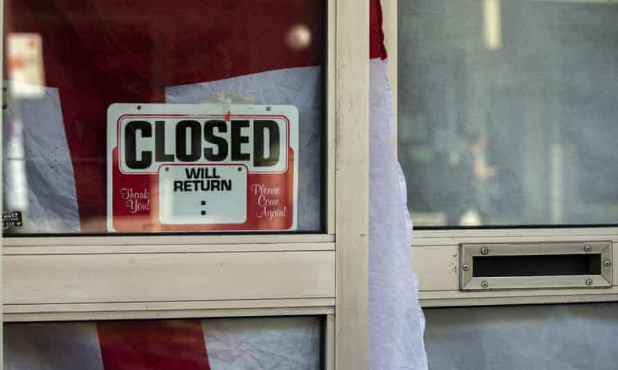 A closed sign is seen in a shopfront in Newtown on May 07, 2020 in Sydney, Australia.