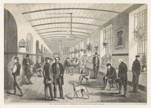 Bethlem hospital's gallery for men, circa 1860: 'Care was stretched thin in the crowded wards where ever more patients were 'put away' for life.'