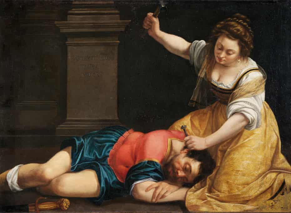 Jael and Sisera, 1620, by Artemisia Gentileschi.