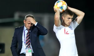 England's Aidy Boothroyd watches on during their final game against Croatia.