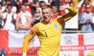 Jordan Pickford of England celebrates