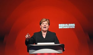 Emily Thornberry speaking during the Labour party's annual conference in Liverpool.
