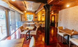 'Down by the canal where the painted houseboats nudge each other': Waterside Bistro and Bar.