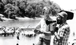 Mohinder Dhillon, right, with Jon Snow in Somalia, 1977.