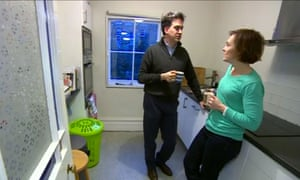 Ed Miliband and wife in kitchen
