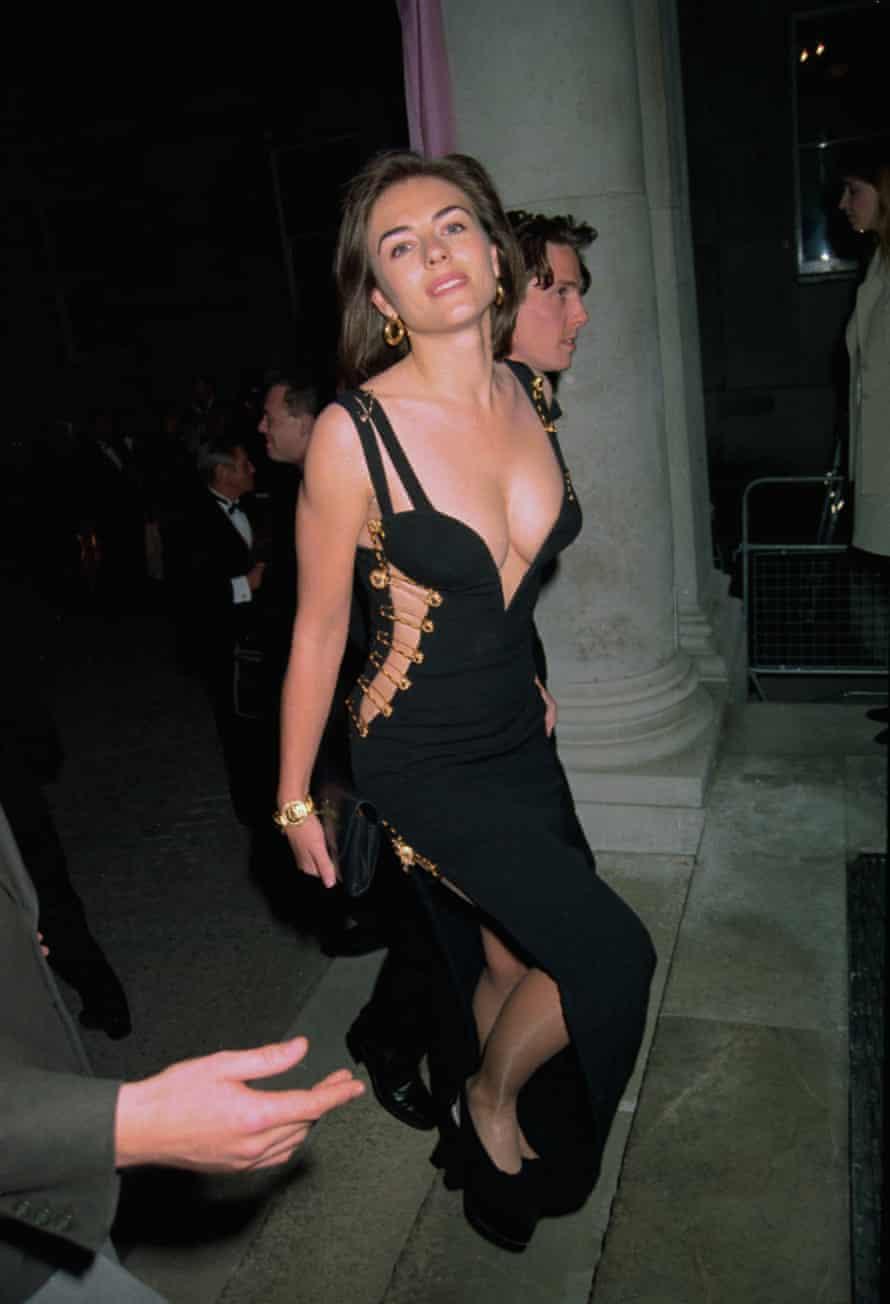 Elizabeth Hurley in Versace in 1995.