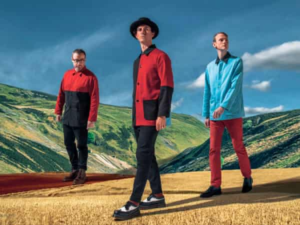 Maximo Park, with Paul Smith, centre.