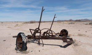 Discarded farm equipment near the Lightning Dock geothermal plant. Locals say the state has been willing to risk their water for a green energy project.