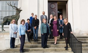 County Hall, Hertfordshire County Council. Sue Williams and family safeguarding team leaders