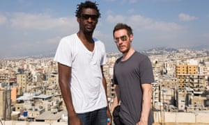 Grant Marshall, stage name Daddy G, left, and Robert Del Naja, (3D), of Bristol band Massive Attack.