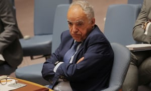 Ghassan Salamé, UN special envoy for Libya, at a security council meeting in New York on Tuesday.
