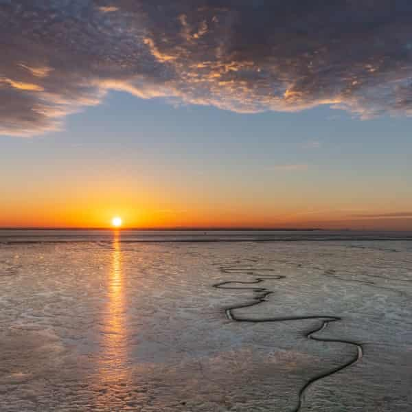Sunset over the Humber, East Riding of Yorkshire.