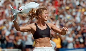The American footballer Brandi Chastain framed her sports bra after winning the 1999 Women's World Cup.
