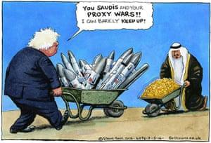Steve Bell on Boris Johnson's remarks on Saudi Arabia