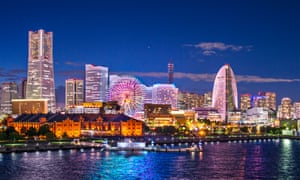 Yokohama's Minato Mirai waterfront district.