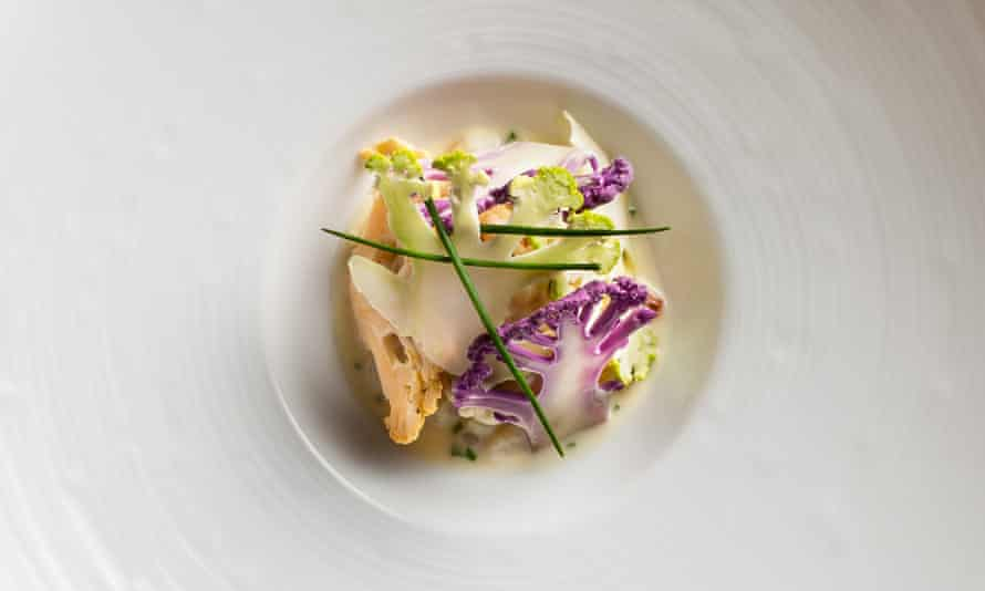 Cauliflower and crab meat prepared by Eric Ripert.