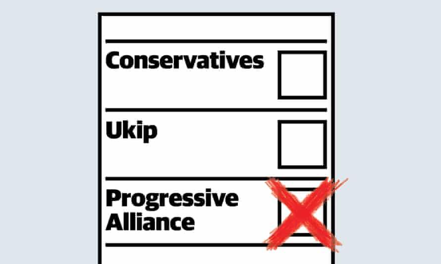 Progressive Alliance ballot paper