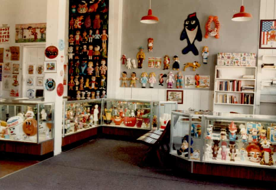 room full of items including a poster of Charlie, the Starkist tuna mascot