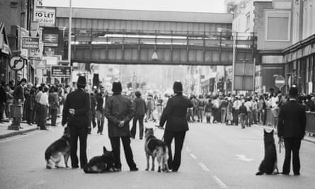 The Brixton riots in 1981.