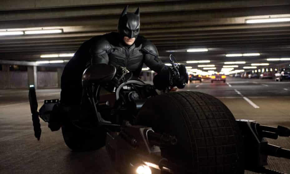 Quasi-fascist superhero … Christian Bale as Batman in The Dark Knight Rises 2012. Allstar/Warner Bros.