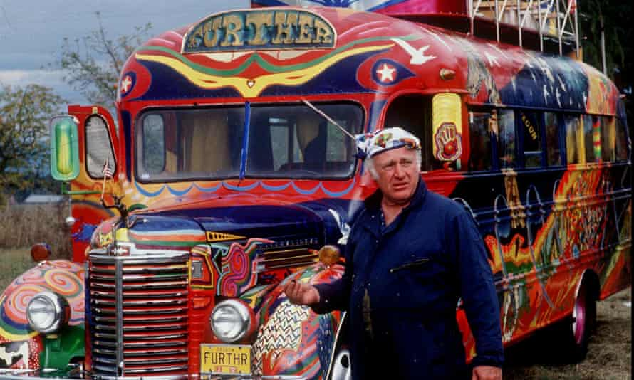 Ken Kesey with his Magic Bus.