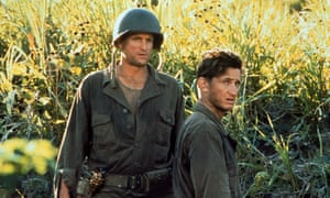 It was a comedy ... Woody Harrelson, left, and Sean Penn in Terrence Malick's 1998 film of James Jones's The Thin Red Line.