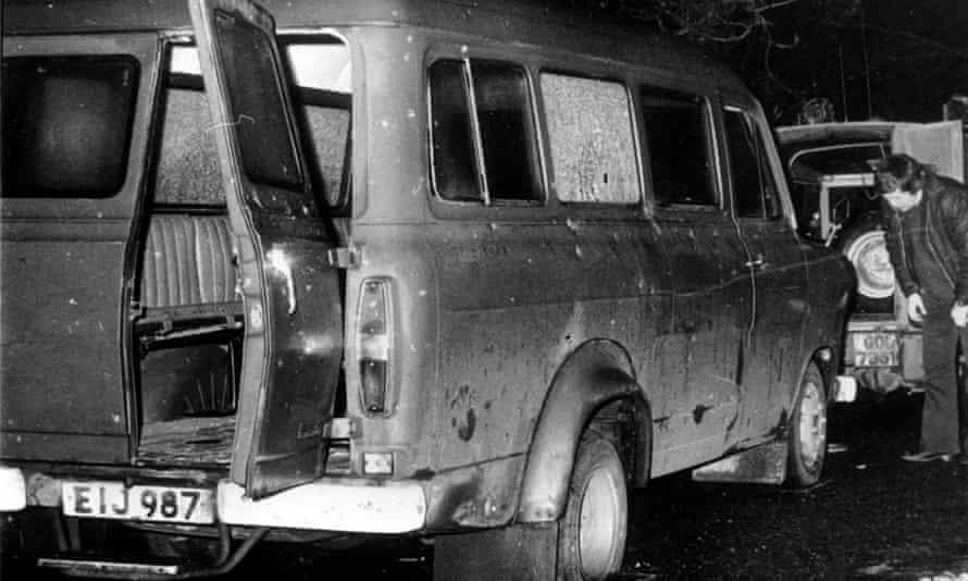The scene of the Kingsmill massacre in 1976