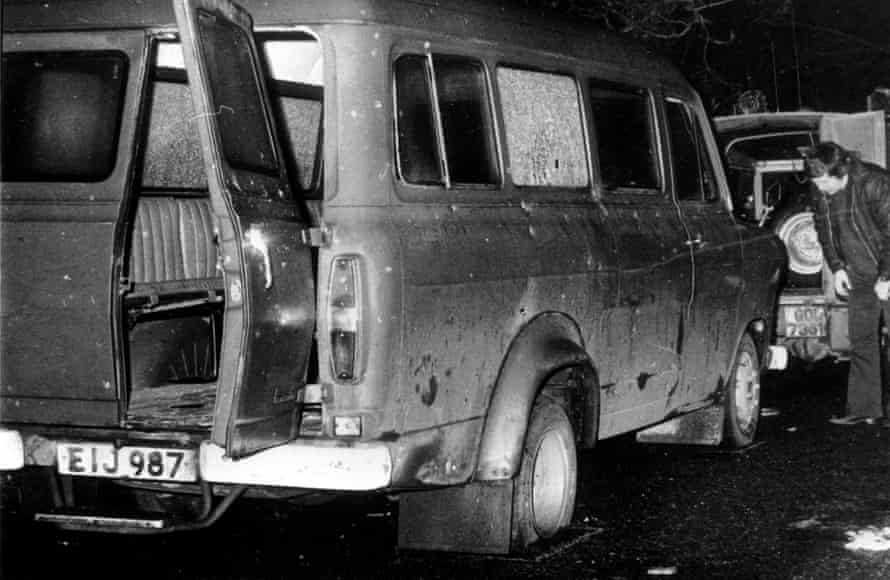 The scene of the Kingsmill Massacre in County Armagh in 1976.